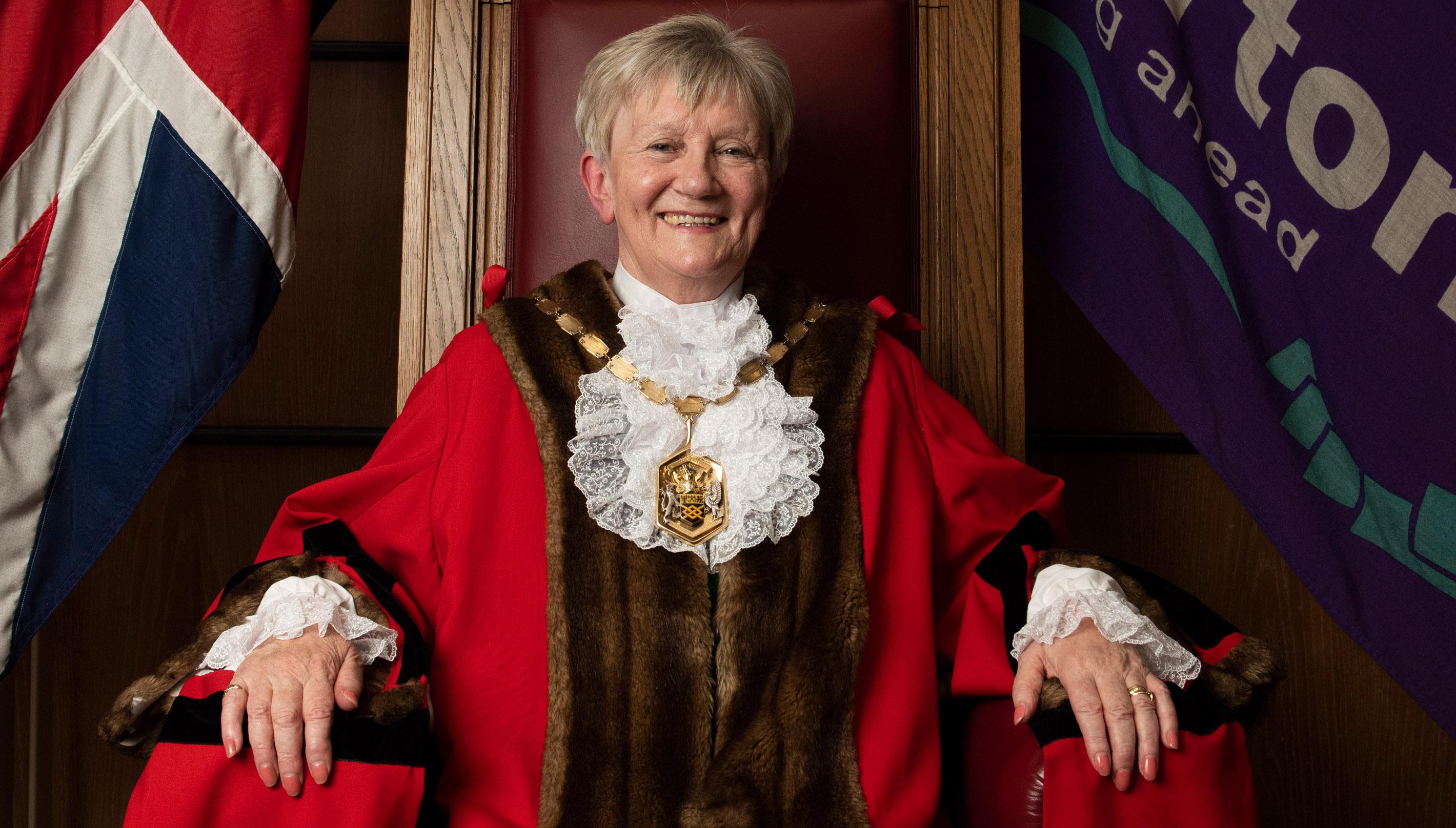 Mayor of London Borough of Merton Cllr Mary Curtin