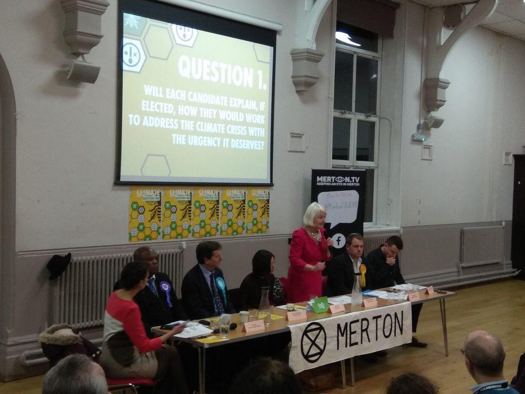 XR Merton Mitcham & Morden Hustings 9 December 2019