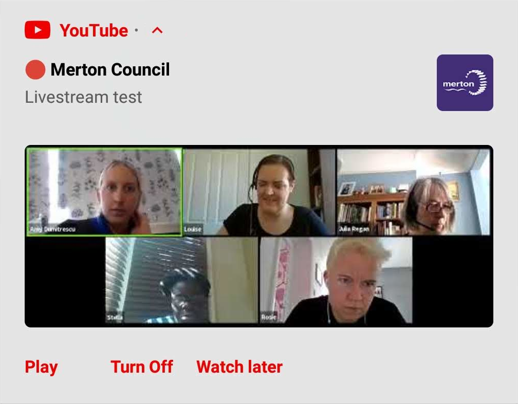 Merton Council Livestream Test