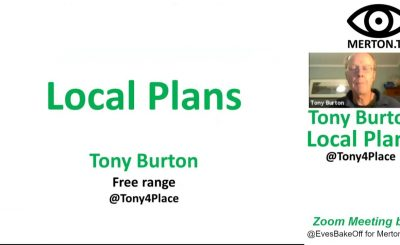 Christmas Day Lecture - Local Plans by Tony Burton 25 December 2020