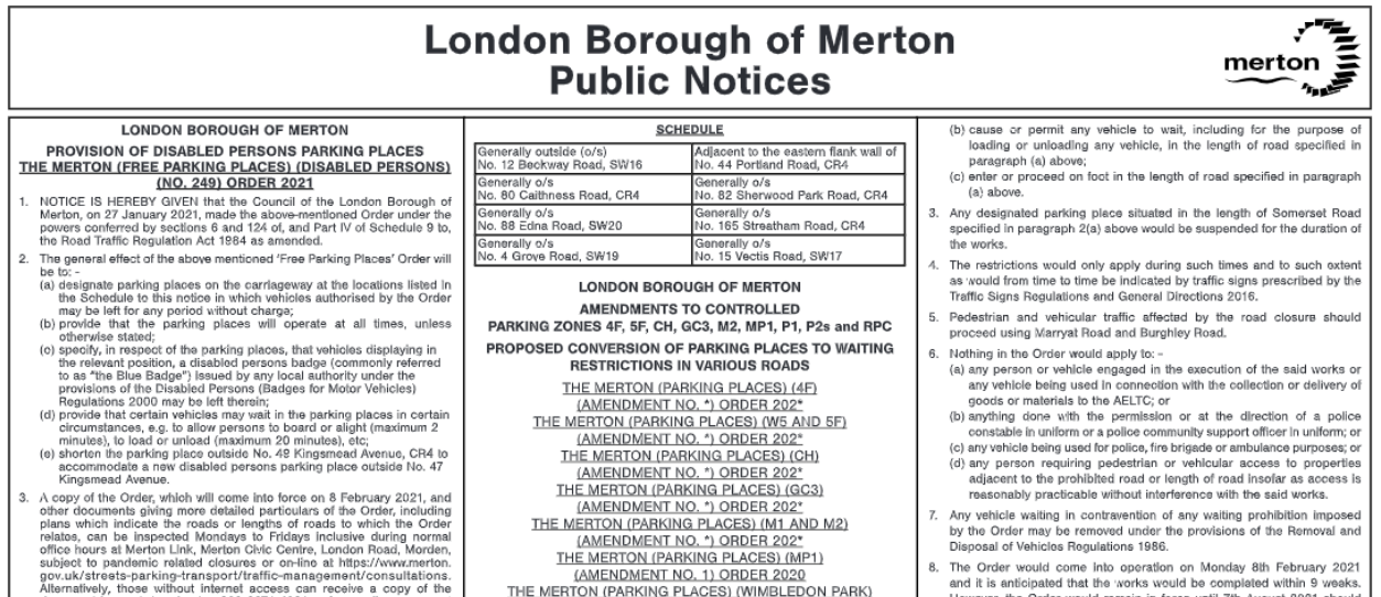 Online Public Notices Portal