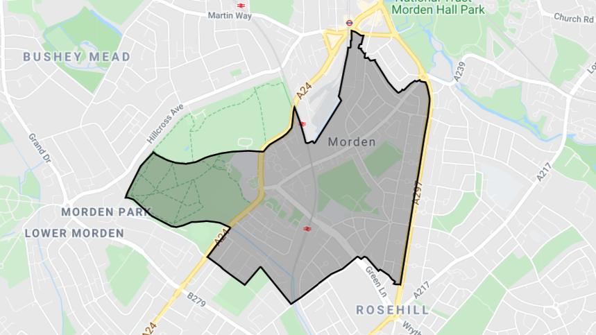 St Helier Ward Map