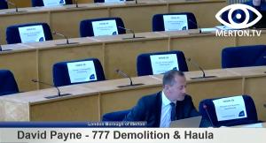 David Payne - 777 Demolition - South London Waste Plan Examination in Public Hearing