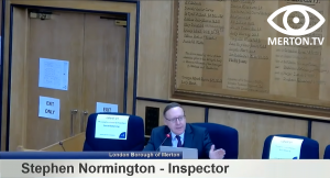 Stephen Normington - Planning Inspector - South London Waste Plan Examination in Public Hearing